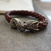 Украшения handmade. Livemaster - original item Bracelet Dragon genuine leather. Handmade.
