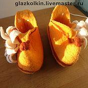 """Обувь ручной работы. Ярмарка Мастеров - ручная работа Домашние тапочки """"Лилейные"""". Handmade."""