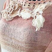 Одежда ручной работы. Ярмарка Мастеров - ручная работа Вязаная кофточка в шебби-тонах. Handmade.