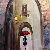 Картины и панно ручной работы. Ярмарка Мастеров - ручная работа Девушка под зонтом. Handmade.