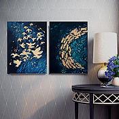 Картины и панно handmade. Livemaster - original item Oil painting and gold leaf