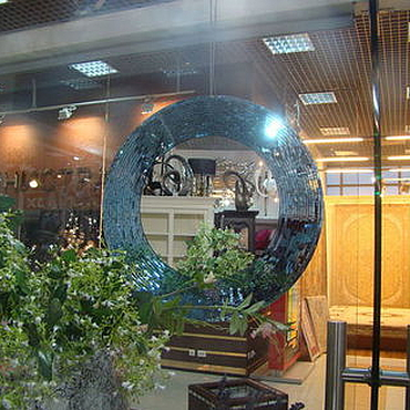 Для дома и интерьера ручной работы. Ярмарка Мастеров - ручная работа Зеркало в мозаичной раме, голубая лагуна. Handmade.