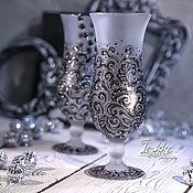 Посуда ручной работы. Ярмарка Мастеров - ручная работа коктейльные, бокалы - загадочные орнаменты. Handmade.