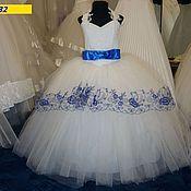 Работы для детей, ручной работы. Ярмарка Мастеров - ручная работа Самое пышное платье с вышивкой на 4-8 лет. Handmade.