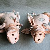 Мягкие игрушки ручной работы. Ярмарка Мастеров - ручная работа Хрюши-поросюши. Handmade.