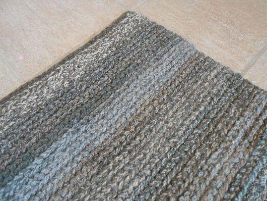 """Текстиль, ковры ручной работы. Ярмарка Мастеров - ручная работа. Купить коврик """"Суровость"""" вязаный прямоугольный. Handmade. Комбинированный, брутальный"""