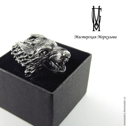 """Кольца ручной работы. Ярмарка Мастеров - ручная работа. Купить Перстень """"Волк"""". Handmade. Серебряный, подарок"""