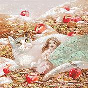 Картины и панно ручной работы. Ярмарка Мастеров - ручная работа Картина Яблоки на снегу. Handmade.