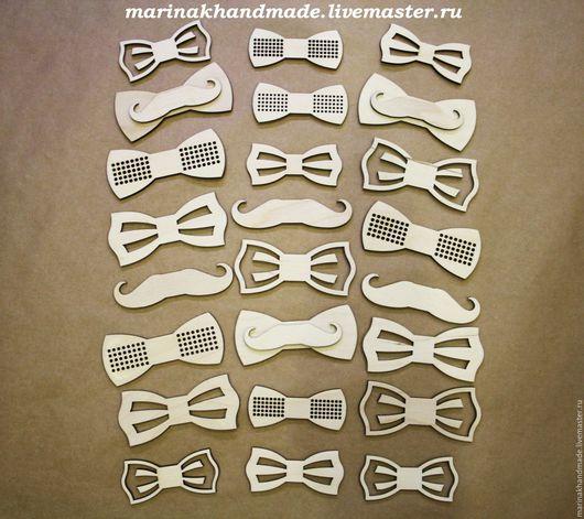 Для украшений ручной работы. Ярмарка Мастеров - ручная работа. Купить Заготовки бабочки. Handmade. Белый, бабочка галстук
