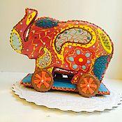 Сувениры и подарки ручной работы. Ярмарка Мастеров - ручная работа Пряник  слон. Слон на колесах пряник. Handmade.