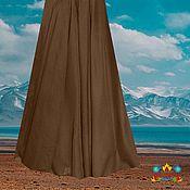 "батист юбка натуральная ткань ""Пепельный шоколад"""