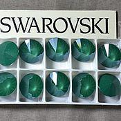 Материалы для творчества handmade. Livemaster - original item 1 PCs 12mm Rivoli Crystal Royal Green Swarovski Rivoli Swarovski Swarovski. Handmade.