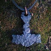 Украшения handmade. Livemaster - original item Kulot Thor`s Hammer blued steel. Handmade.