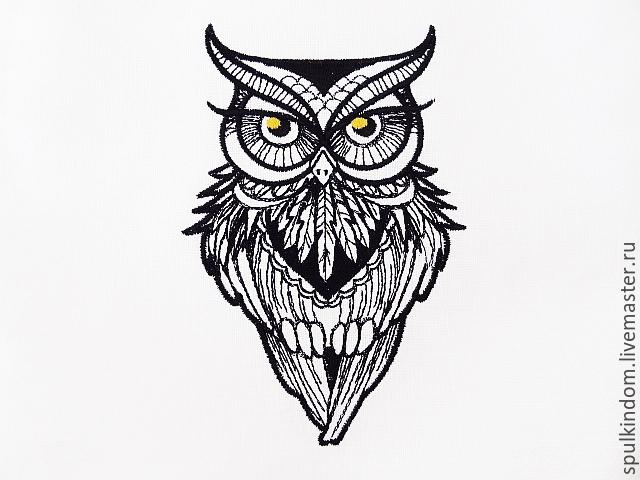 Черно-белые совы вышивка
