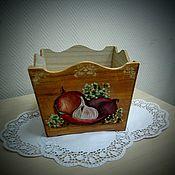 Для дома и интерьера ручной работы. Ярмарка Мастеров - ручная работа Короб под овощи и специи. Handmade.