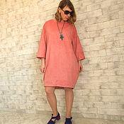 Одежда handmade. Livemaster - original item Suede Dress overseas. Handmade.
