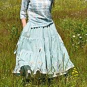 """Одежда ручной работы. Ярмарка Мастеров - ручная работа Комплект юбочек """"Цветы и травы. Мята"""". Handmade."""