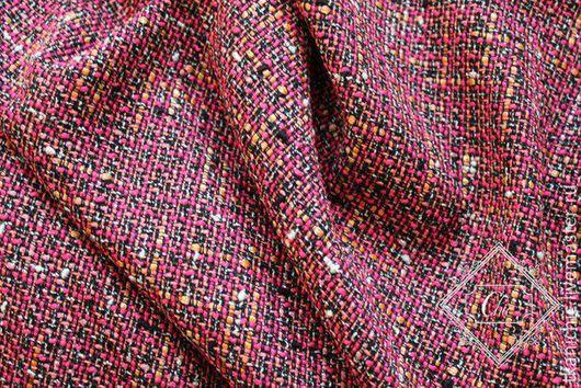 Шитье ручной работы. Ярмарка Мастеров - ручная работа. Купить ткань  Шанель Люкс цв 3. Handmade. Розовый