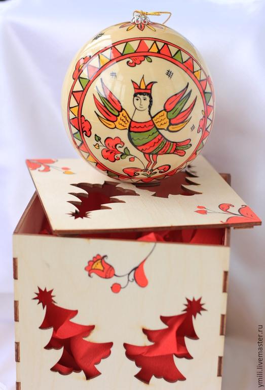 Расписные авторские подарки к новогоднему празднику.