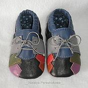 Работы для детей, ручной работы. Ярмарка Мастеров - ручная работа пинетки детские Мозаика. Handmade.