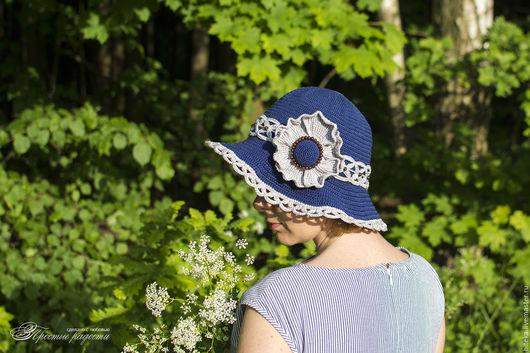 """Шляпы ручной работы. Ярмарка Мастеров - ручная работа. Купить Летняя вязаная шляпка """"Мэгги"""". Handmade. Шляпа, шляпа женская"""
