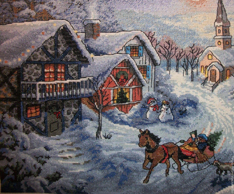 Готовая вышивка рождество