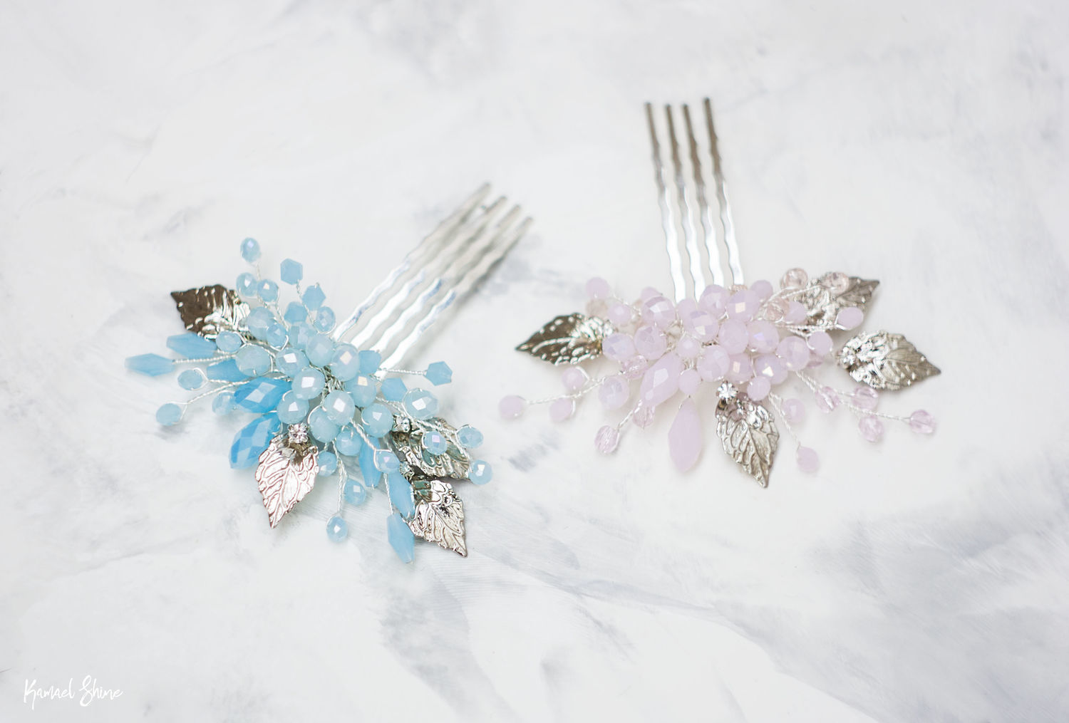 Wedding Combs In Pastel Colours The Decoration In The Brides