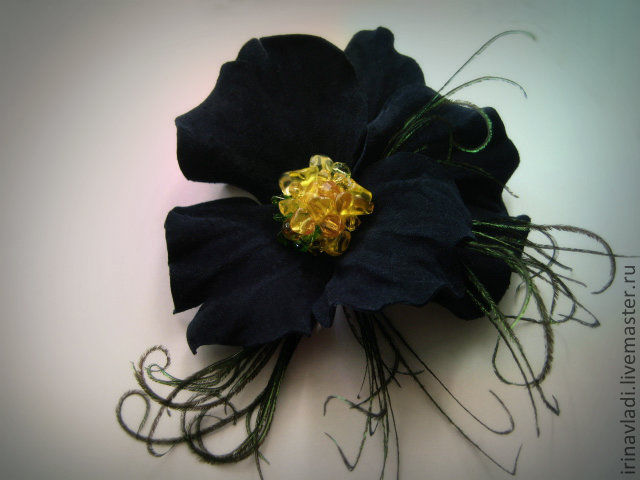 jewelry made of leather, brooch, hair clip flower brooch Pansy. blue flower brooch, blue flower barrette leather brooch barrette in her hair flower,hair accessories flower