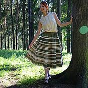 Одежда ручной работы. Ярмарка Мастеров - ручная работа Юбка Кружевель зеленая. Handmade.