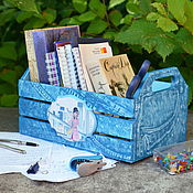 Для дома и интерьера ручной работы. Ярмарка Мастеров - ручная работа Ящик для тетрадок. Handmade.