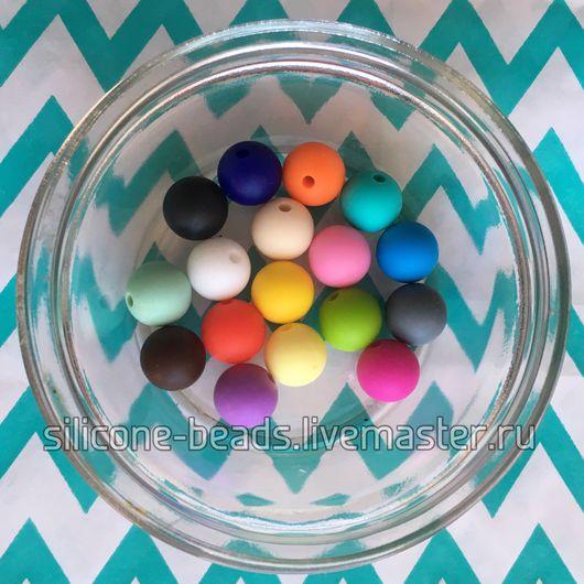 Для украшений ручной работы. Ярмарка Мастеров - ручная работа. Купить Бусины 12 мм (круглые) из пищевого силикона. Handmade.