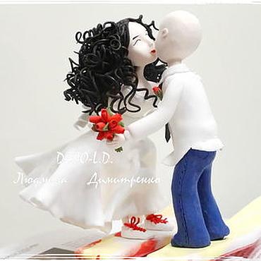 Свадебный салон ручной работы. Ярмарка Мастеров - ручная работа Свадебная фигурка на торт. Handmade.