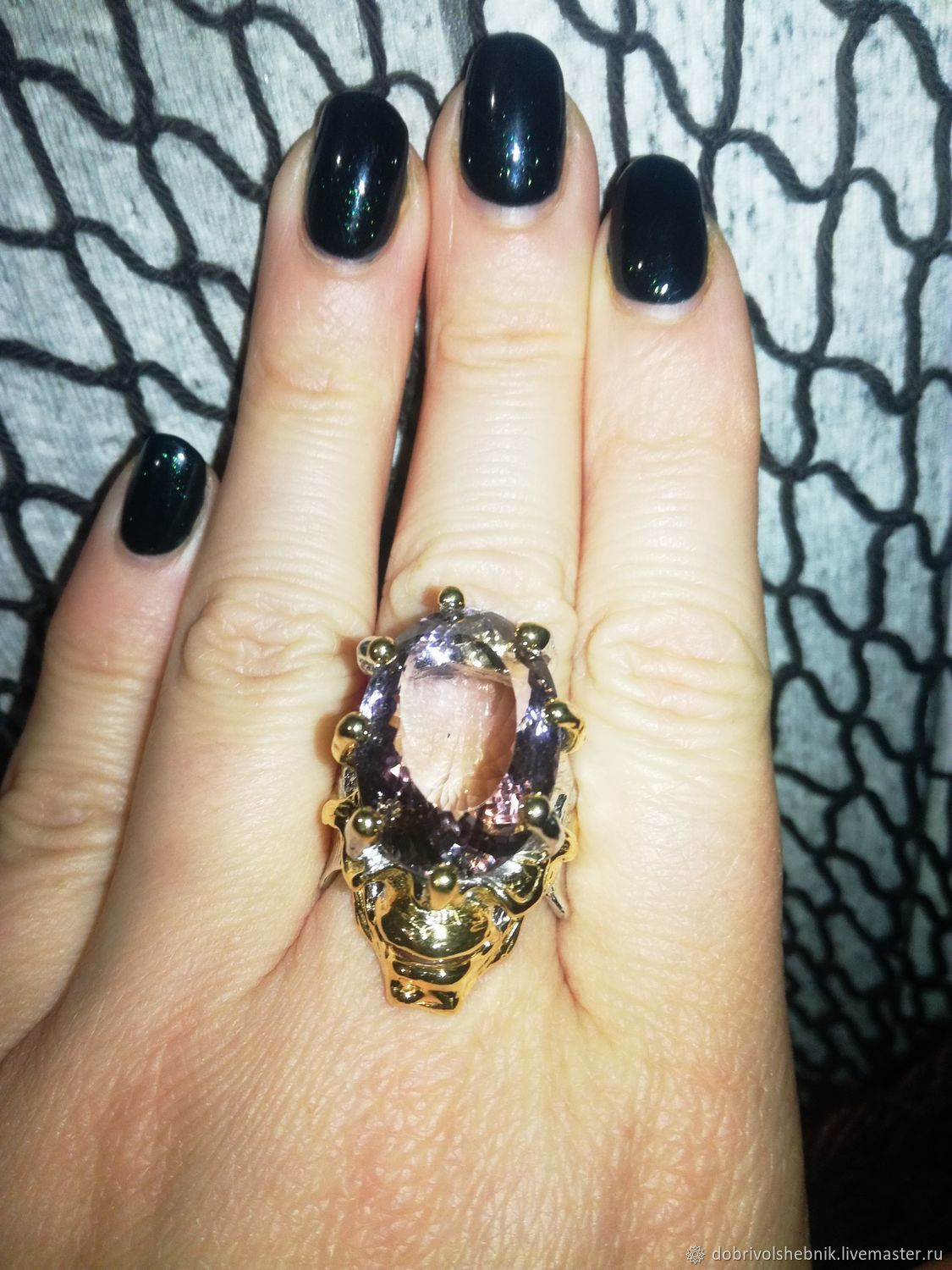 Ring 'Faun' with natural ametrine, Rings, Novaya Usman,  Фото №1