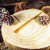 Украшения handmade. Livemaster - original item Wooden hairpin hairpin made of cherry wood H12. Handmade.