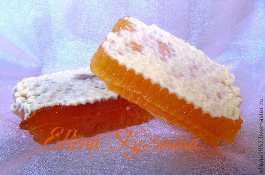 Мыло ручной работы. Ярмарка Мастеров - ручная работа. Купить Мыло  Медовые соты. Handmade. Оранжевый, мед