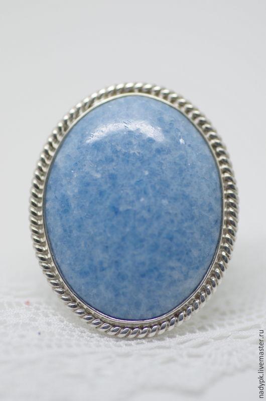 """Кольца ручной работы. Ярмарка Мастеров - ручная работа. Купить Кольцо с виоланом """"Голубой снег"""", голубой диопсид, серебро. Handmade."""