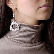 Украшения handmade. Livemaster - original item Earrings, triangle Theo. Handmade.