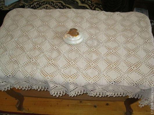 Текстиль, ковры ручной работы. Ярмарка Мастеров - ручная работа. Купить скатерть. Handmade. Бежевый, хлопок