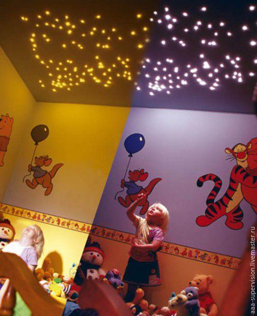 Дизайн интерьеров ручной работы. Ярмарка Мастеров - ручная работа. Купить Звездное небо  на потолке-световолокно. Handmade. Светильник, комбинированный