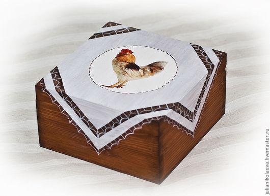 Новый год 2017 ручной работы. Ярмарка Мастеров - ручная работа. Купить Шкатулка чайная Деревенская. Handmade. Шкатулка для чая