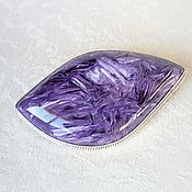 Украшения handmade. Livemaster - original item Brooch made of charoite. Handmade.