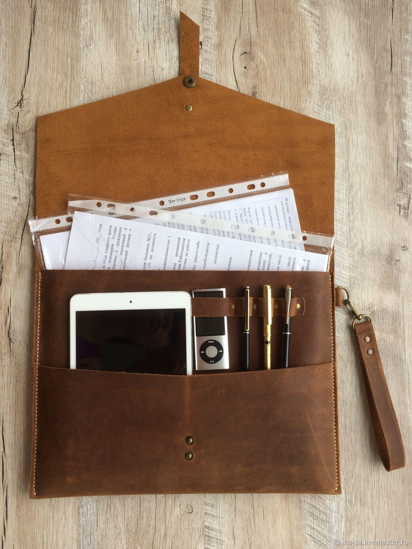 Кожаная папка для документовА4 два отделения,крепление для ручек, Папки, Севастополь, Фото №1