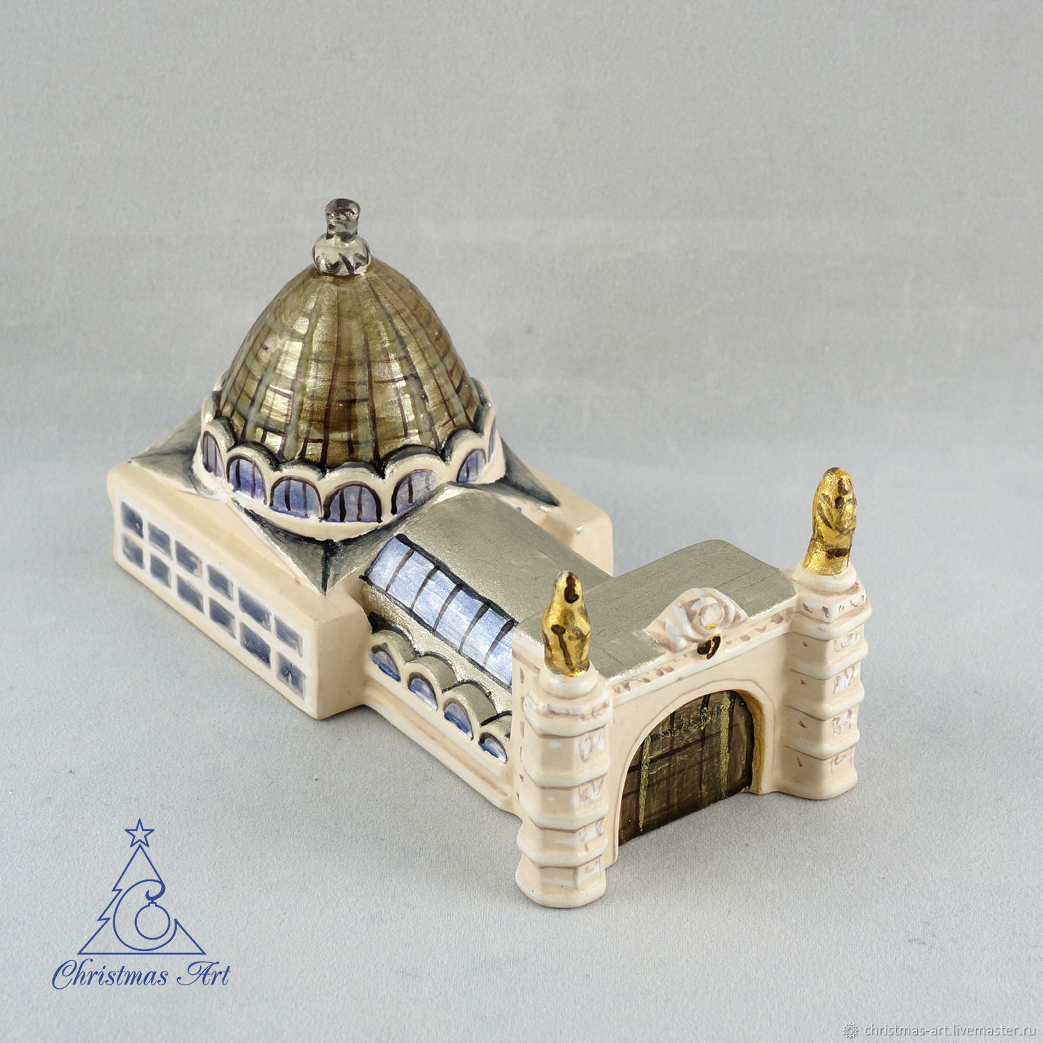 Christmas tree toy pavilion 34 VDNH Space, porcelain toy, Decoration, Moscow, Фото №1