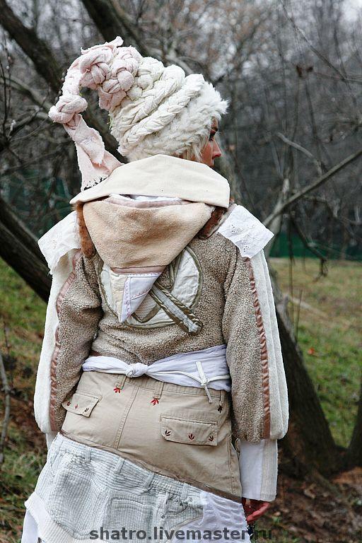 Верхняя одежда ручной работы. Ярмарка Мастеров - ручная работа. Купить пальто БЫЛОЕ И ДУМЫ. Handmade. Кремовый