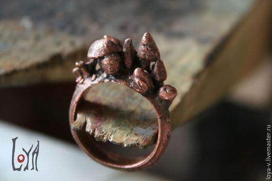 """Кольца ручной работы. Ярмарка Мастеров - ручная работа. Купить Кольцо """"Волшебные грибы"""". Handmade. Коричневый, волшебный"""