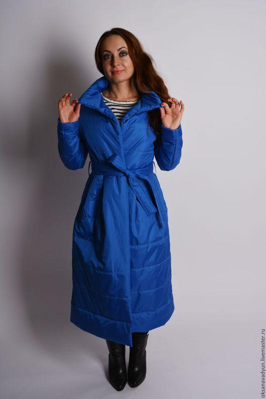Верхняя одежда ручной работы. Ярмарка Мастеров - ручная работа. Купить Демисезонное пальто Lady in.... Handmade. Синий, пальто