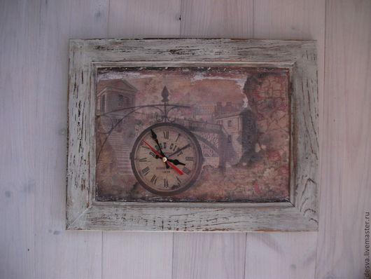 """Часы для дома ручной работы. Ярмарка Мастеров - ручная работа. Купить часы-картина""""Время невластно"""". Handmade. Кремовый, часы-картина"""