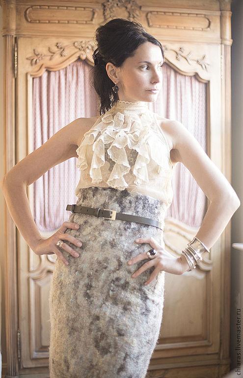 Юбки ручной работы. Ярмарка Мастеров - ручная работа. Купить авторская необычайно теплая и элегантная юбка из шерсти на подкладке. Handmade.