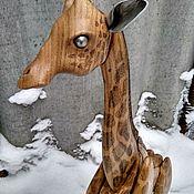 Статуэтки ручной работы. Ярмарка Мастеров - ручная работа Скульптура из дерева Жираф. Handmade.