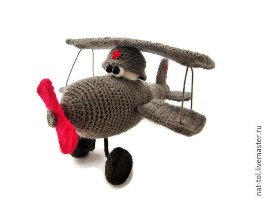 Подарки для мужчин, ручной работы. Ярмарка Мастеров - ручная работа. Купить Игрушка самолётик. Handmade. Хаки, весёлый сюрприз